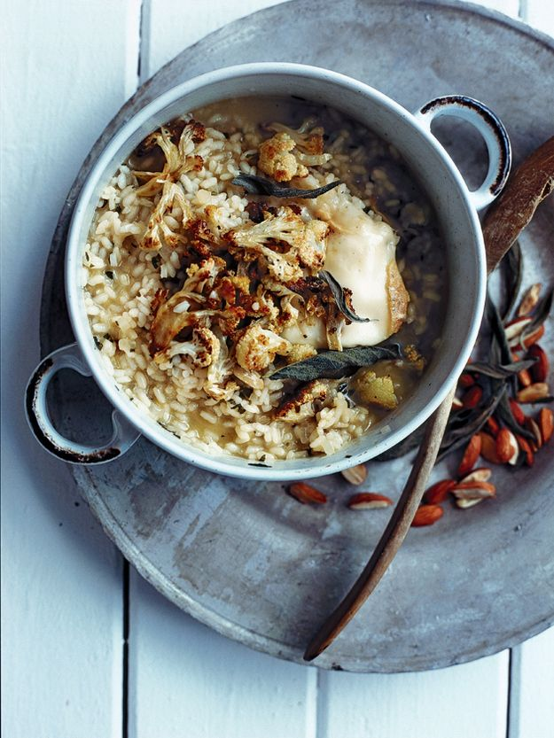 Roasted Cauliflower, Sage, Almond Risotto Recipe from Donna Hay