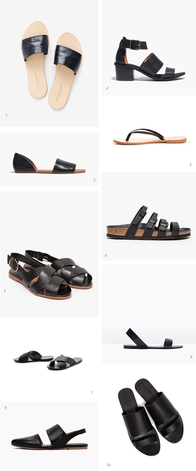 Style Bee - Black Sandal Bonanza