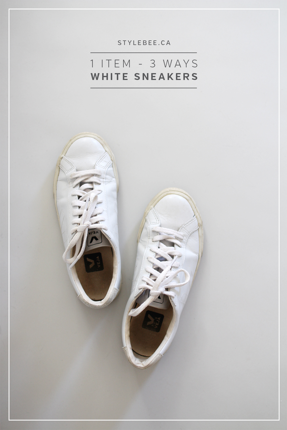 Style Bee - 1 Item - 3 Ways - White Sneakers