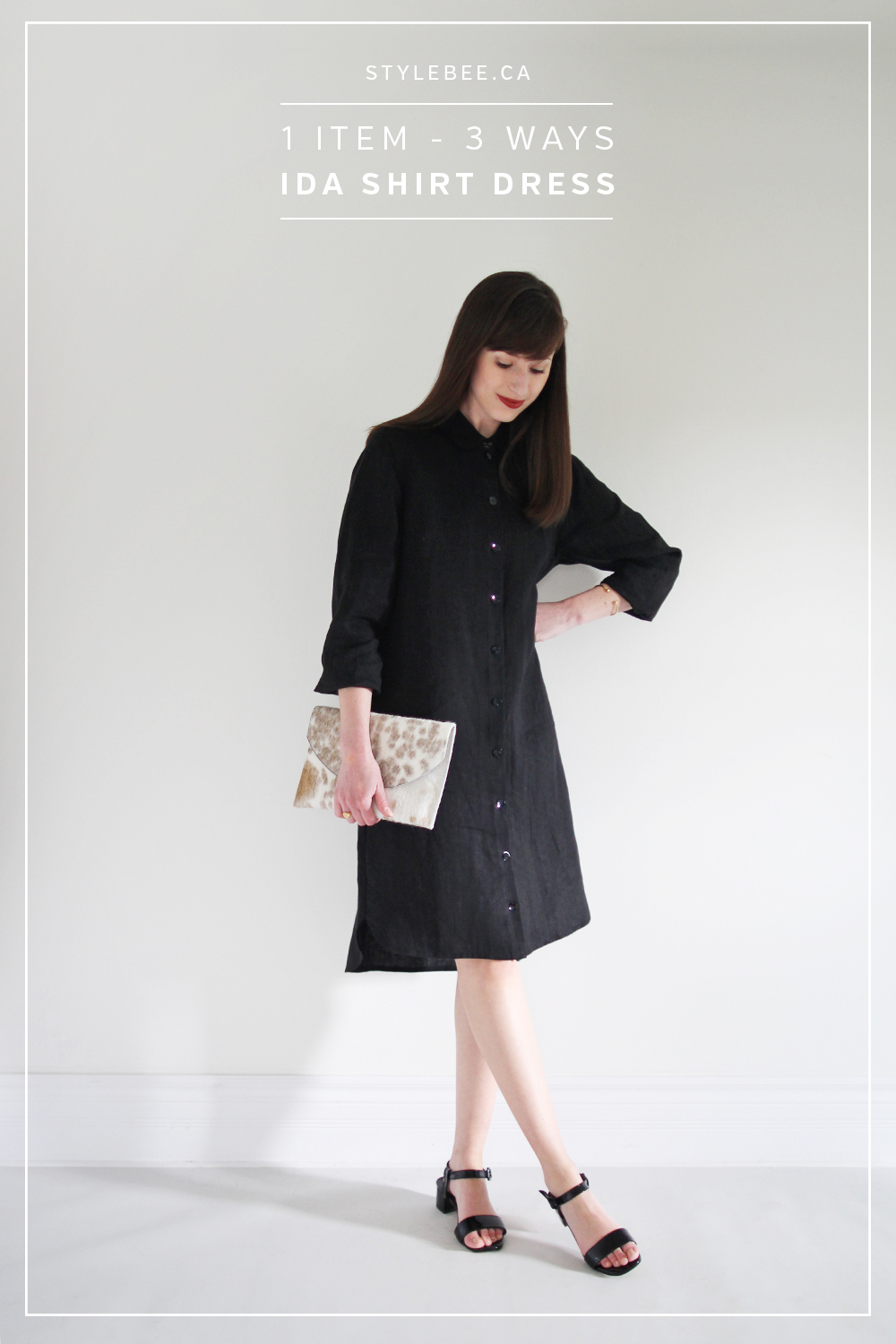 Style Bee - 1 Item - 3 Ways - Ida Shirt Dress